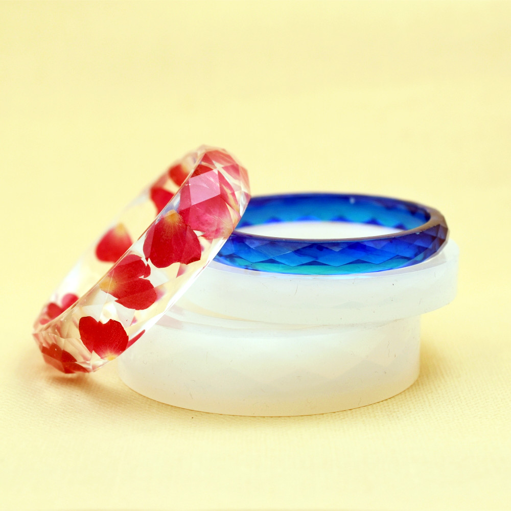 Silicone Mold Diamond Surface Bracelet Mold Resin Silicone Mould Handmade DIY Craft Jewelry Making Epoxy Resin Molds