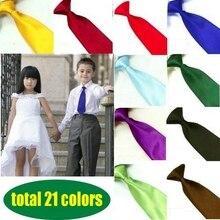 Детские галстуки 21 Цвета, детские галстуки для мальчиков и девочек, Свадебные однотонные Галстуки, эластичный регулируемый галстук для свадьбы, дня рождения, CT