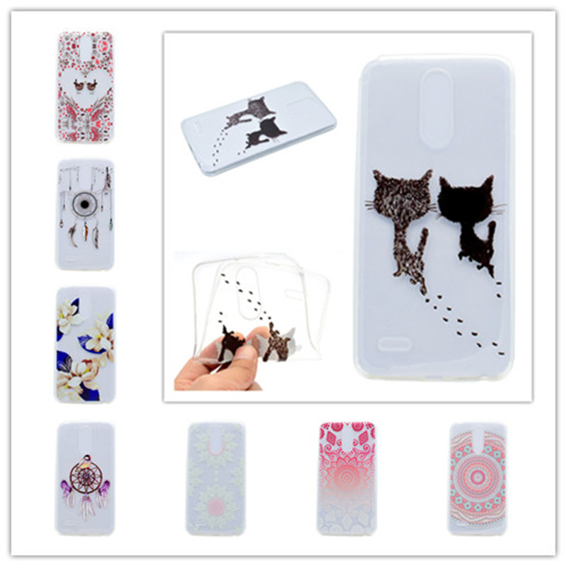 Ultrathin Soft Cover For Carcasa LG Stylus 3 Case Fashion Ballet girl Love bird kitten Wind chime leaves pattern Cell Phone Case