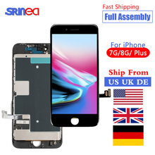 Full Assembly LCD For iPhone 7 8 Plus 7Plus 8Plus Touch Screen Replacement Lens Pantalla With Front Camera Ship From US UK DE CN
