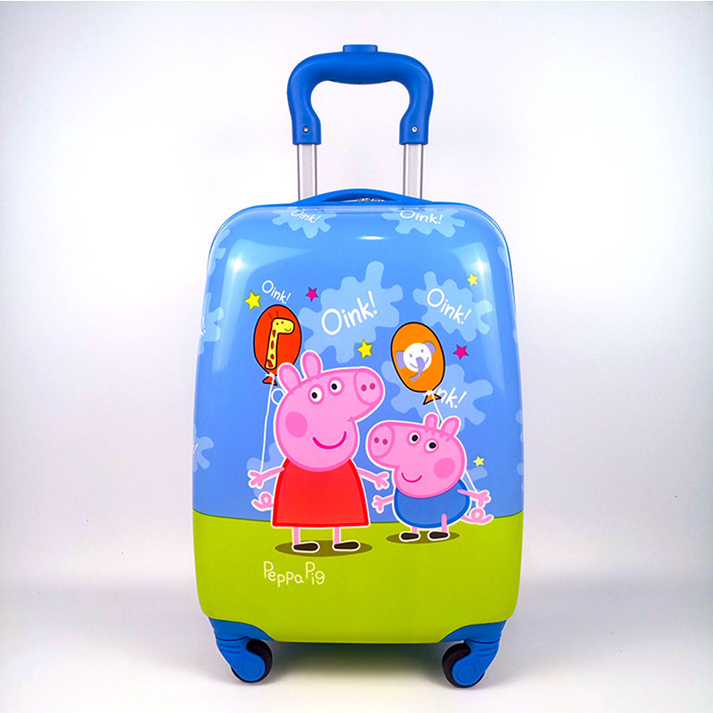 LEINASEN hello kitty Spiderman kid 18 Luggage Travel 3D stereo Pull rod box children's suitcase cartoon PC anime trolley case 18 20 inch pc abs girl cartoon pull rod box trolley case 3d child travel luggage anime suitcase kids boarding box with wheel