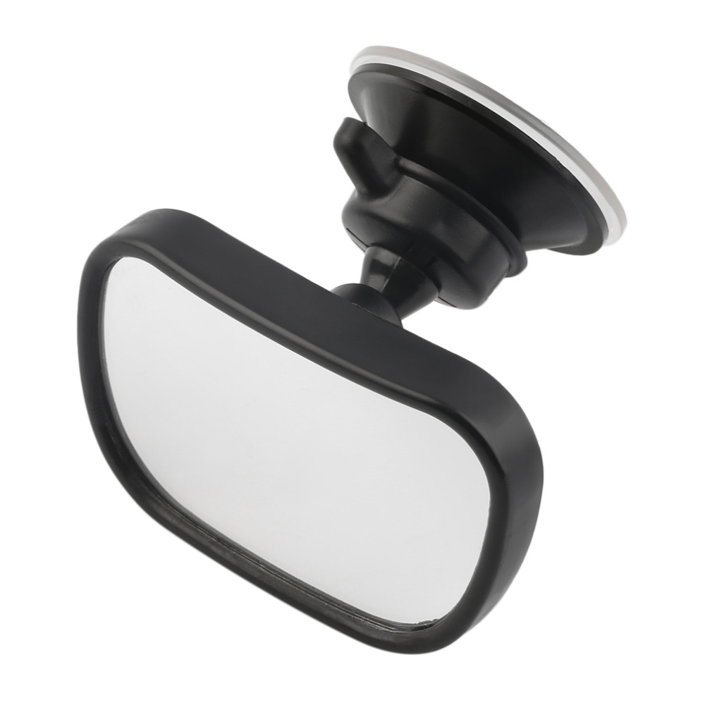 Newest Car Rear Seat View Mirror Baby Child Safety With Clip and Sucker Black Car-styling Drop Shipping