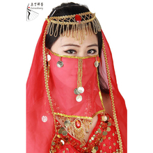 Dancewear Performance Belly Outfit Sequin Accessory for Ladies Belly Dance Veil #B08