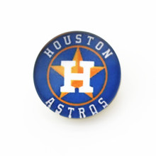 10pcs/lot 18mm snap button MLB Houston Astros baseball team snap charms for fashion snap bracelet neckace jewelry