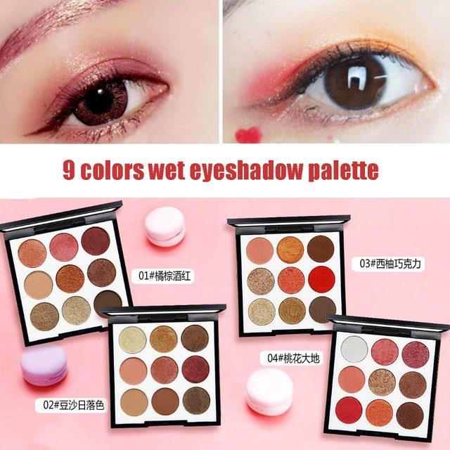 Online Shop Novo Eye Makeup 9 Colors Mermaid Eyeshadow Palette