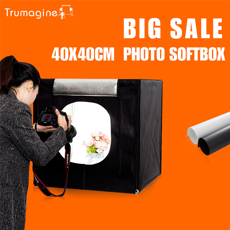 40*40*40CM LED Photo Studio Softbox Shooting Light Tent Soft Box Kit Soft Box Mini Photography Lightbox With Portable Bag