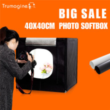 40*40*40 CM LED Photo Studio Luz Tent Tiro Softbox Suave Box Kit Caixa de luz Fotografia Mini Lightbox Com Saco Portátil