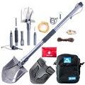 Туристическая Лопата для рыбалки  многофункциональная Складная лопата для кемпинга  военные инструменты