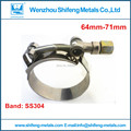 Pack of 10pcs 2.50''-2.81'' T BOLT CLAMPS Turbo Pipe Hose Coupler Stainless Steel 64mm-71mm