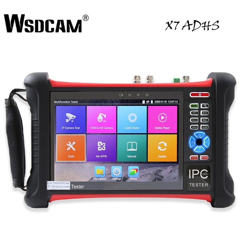 X7 7 Inch IP Camera Tester CCTV Tester With SDI/TVI/AHD/CVI/POE/WIFI/4K H.265/HDMI In&Out/R45 TDR /Firmware Update Upgraded