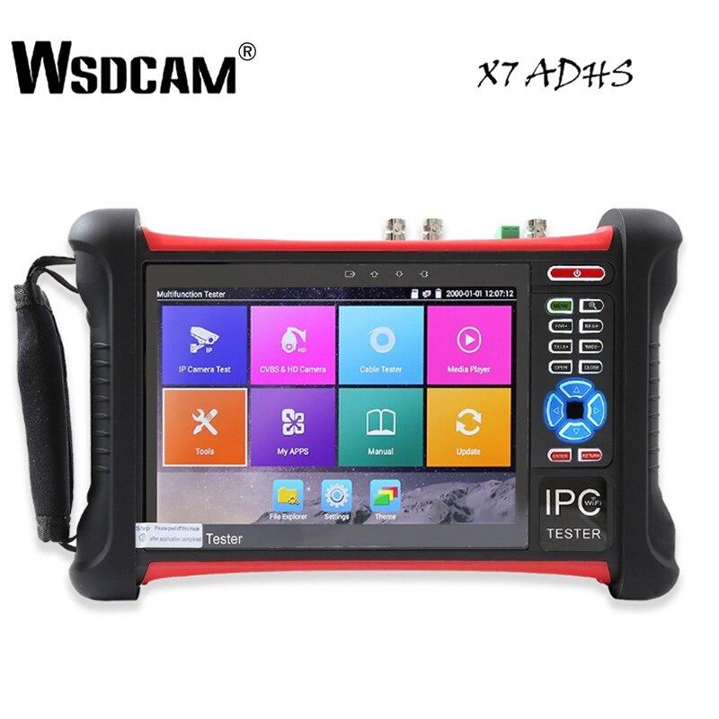 X7 7 pollice IP Della Macchina Fotografica Tester Tester A CIRCUITO CHIUSO con SDI/TVI/AHD/CVI/POE/WIFI /4 k H.265/HDMI In & Out/R45 TDR/Aggiornamento Del Firmware Aggiornato
