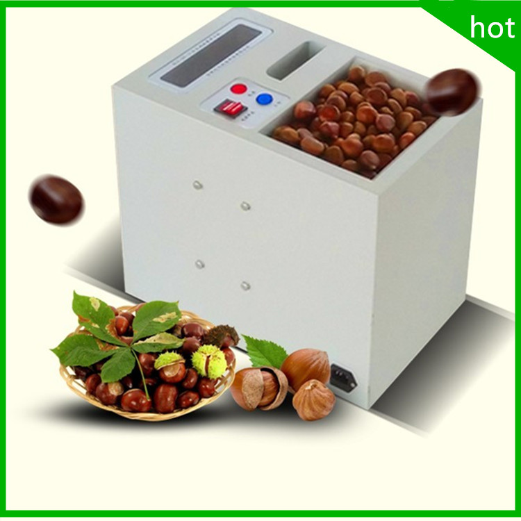 цена на 18 free ship Electric Chestnut shell opening machine hazelnut slitting machine opener,double Chain link chestnut cutting machine