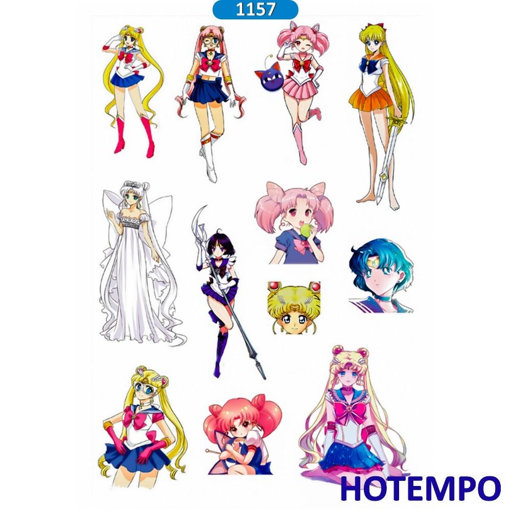 Lychee Life 75pcs Japanese Anime Sailor Moon Stickers Kawaii Cartoon Waterproof Decals Diy Scrapbooking Album Cards Decoration Parts & Accessories