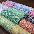4ply (100 Metros) 1 pçs/lote fina Bakers barbante padeiro fio de algodão de cor prata ouro rosa vermelha de algodão corda cor por frete grátis