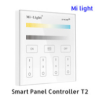 BSOD LED Smart Controller Touch Panel Milight T2 RF 2 4GHz CCT Dimmer Brightness 4 Zones