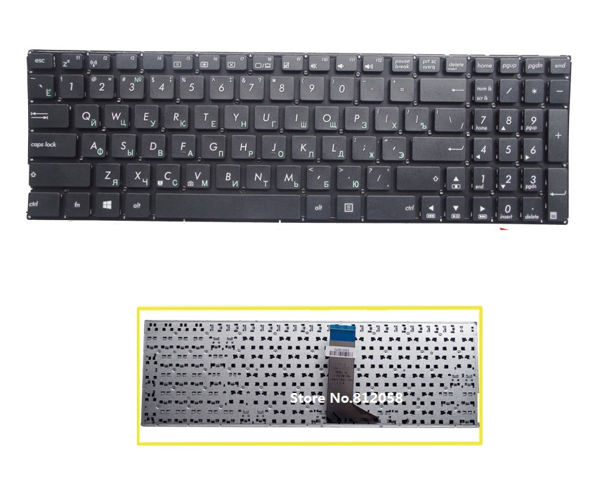 laptop RU Keyboard for ASUS X551 X551C X552C X552E F550 F550V Russian without frame