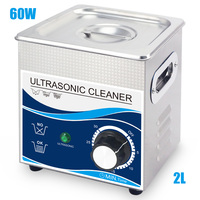 Glasses Cleaner Jewelry 2L Stainless Bath 60W Ultrasonic Cleaner 40khz Timer Setting 1 30mins Home Washer Dental Brushes