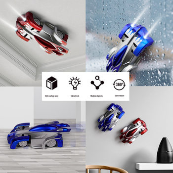 Dropshopping New Wall Climbing Cars Remote Control RC Racing Car Anti Gravity Ceiling Rotating Stunt Electric Toys for Wholesale