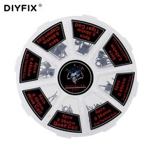 DIYFIX 8 in 1 Prebuilt Coils Premade Coil Heating Coil Wire DIY Tool with Box for Electronic Cigarette RDA RTA RBA RDTA Atomizer(China)