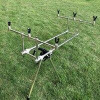 Carp fishing rod pod set with carry bag big size fishing bank sticks and fishing buzz bar rod rest