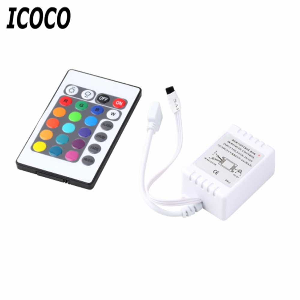 ICOCO 1 Set RGB 16 Colors 4 Different Light Control Functions Remote Control Box DC 12V For LED Light Strip Security Safety