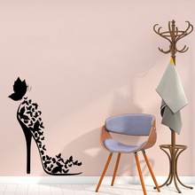 Creative High heels Vinyl Wallpaper Roll Furniture Decorative Waterproof Wall Decals Home Party Decor naklejki