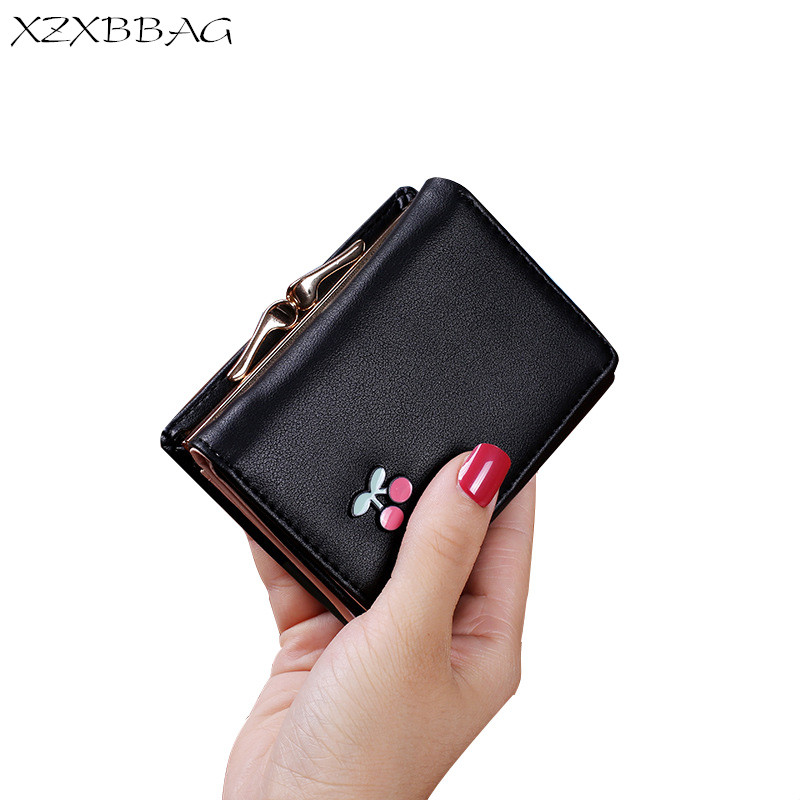 XZXBBAG Cute Fruit Women Short  Wallet Female Hasp Small Wallet With Card Holder PU Leather Girl Students Money Bag Purse XB168 dollar price women cute cat small wallet zipper wallet brand designed pu leather women coin purse female wallet card holder