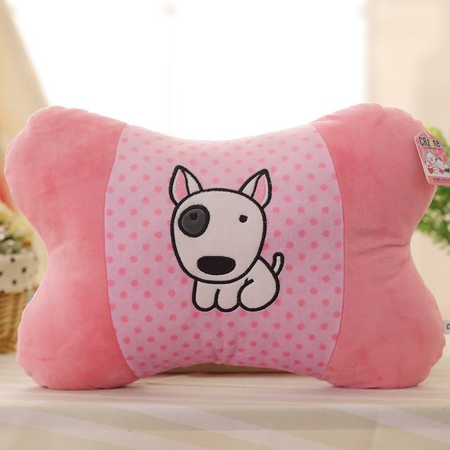 bone-shaped bulll terrier plush soft toy dog pillow cushion novelty