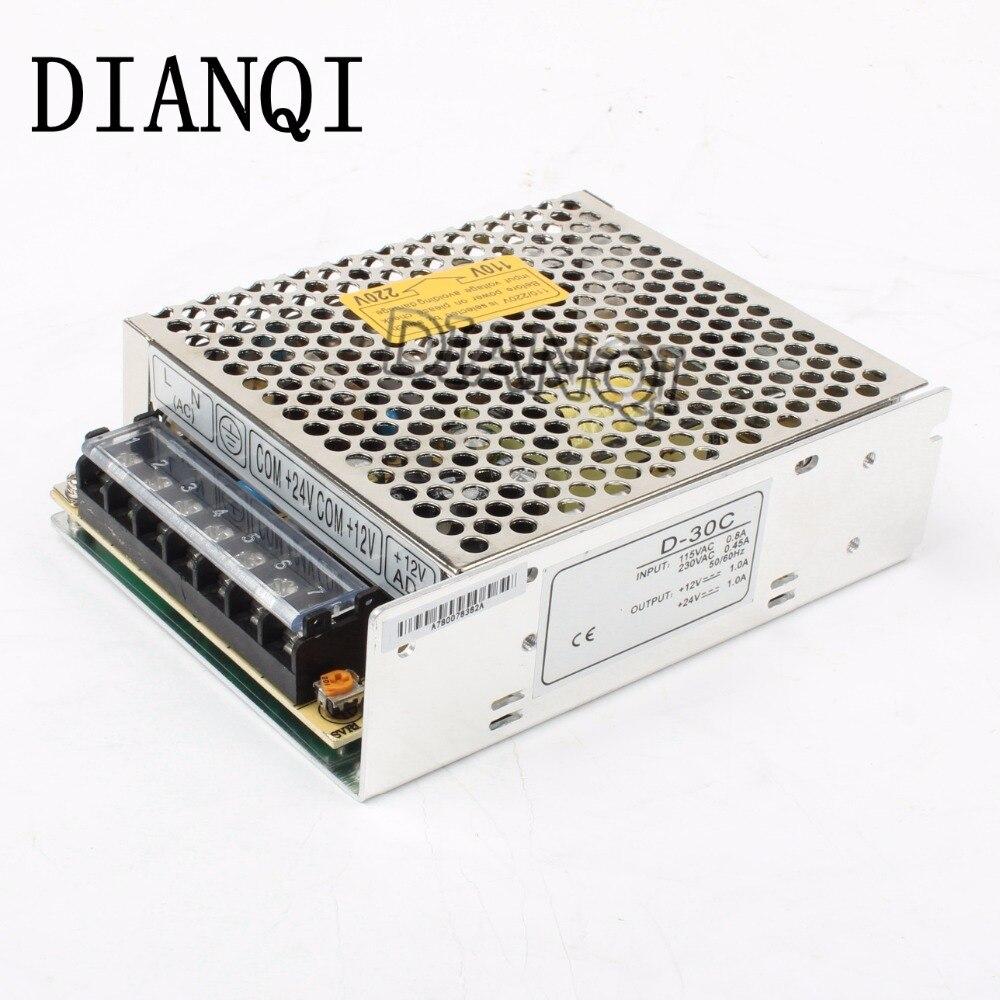 dual output power supply 30w 12v 24v power suply D-30C  ac dc converter good quality отсутствует van gogh