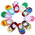6-12 Meses do bebê ponto antiderrapante fundo de borracha dos desenhos animados rendas meias chão cor composto ultra tubo curto navio meias frete grátis
