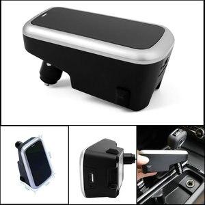 Image 2 - Araba kablosuz şarj cihazı volvo XC90 YENI XC60 S90 V90 C60 V60 2018 2019 Özel cep telefonu şarj plakası araba aksesuarları