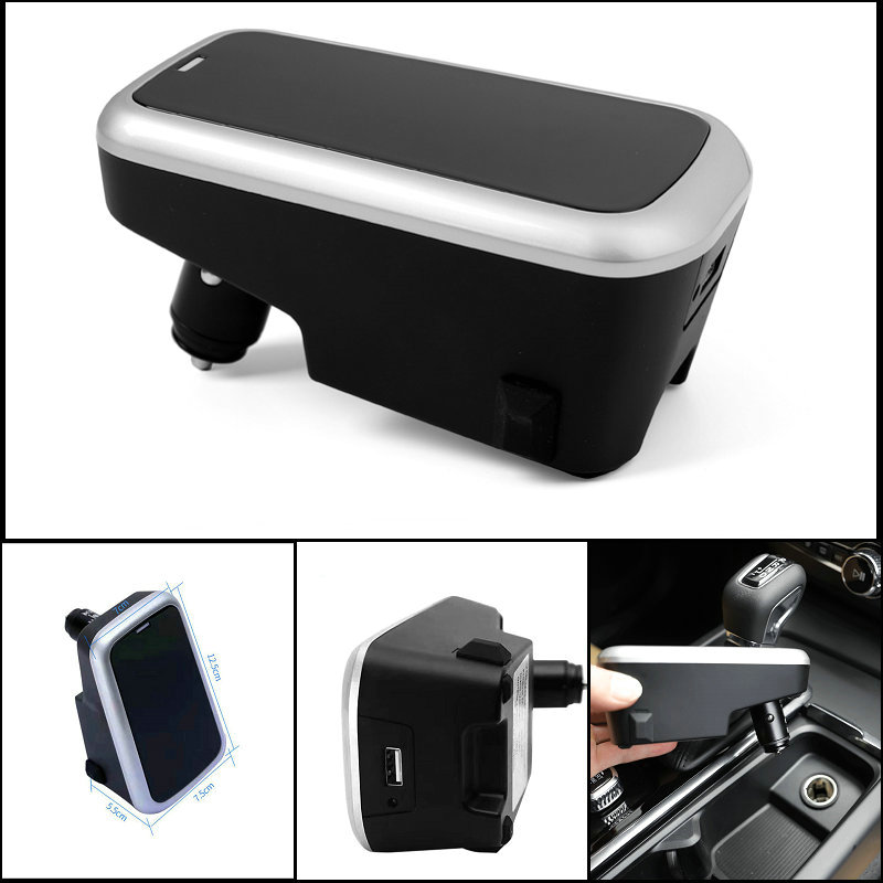 Chargeur sans fil de voiture pour volvo XC90 nouveau XC60 S90 V90 C60 V60 2018 2019 plaque de charge spéciale pour téléphone portable accessoires de voiture - 2