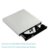 Kuwfi USB 2.0 External DVD Optical Drive Combo CD RW Burner DVD/CD ROM Player Portatil For Laptop Windows 7/8/10 MAC OS