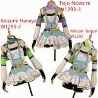 Love Live! Hanayo Tojo Kotori Cos Awakening Crayon/Painter Cosplay Costume Custom Made Ball Gown Girl Sexy Mini Dress