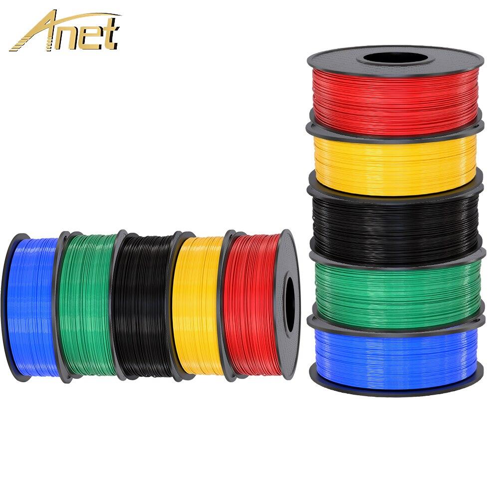 Anet 3d Impressora de Filamento 1.75 milímetros 0.5 kg/kg Suprimentos para Impressoras PLA ABS Materiais de Impressão para 3D 1 Extrusora caneta 3d Filamento Plástico
