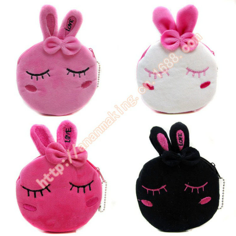 Factory direct wallet cartoon rabbit high quality plush coin purse activity promotional gifts for children girls factory direct wallet cartoon rabbit high quality plush coin purse activity promotional gifts for children girls