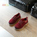 Boys shoes 2017 Spring children shoes boys Vintage shoes children sneakers kids Nubuck leather Martin shoes Tie girls sneakers