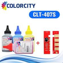 Цветной clt-407s Заправка тонер порошок+ чип clt 407 s для samsung CLP-325 CLP-320 CLP 320 325 CLX-3185 CLX 3185 3185FN принтер