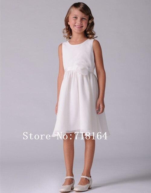 f49cfe43e Breve blanco marfil barato simple de la flor vestido de la muchacha para  niños chicas vestidos