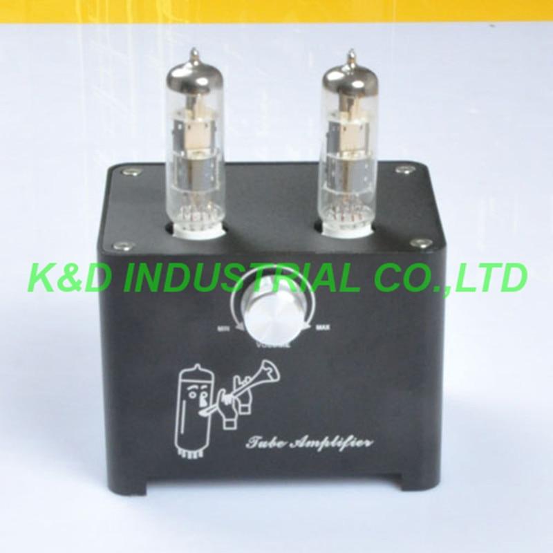 1pcs Black Small Mini Tube AMP Single Ended HIFI Audio Valve Preamp 6F3 ECL805 ECL85 appj pa0901a 12ax7b el84 mini stereo tube amplifier hifi desktop valve audio amp black 1pc