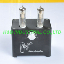 1pcs Black Small Mini Tube AMP Single Ended HIFI Audio Valve Preamp 6F3 ECL805 ECL85 цена