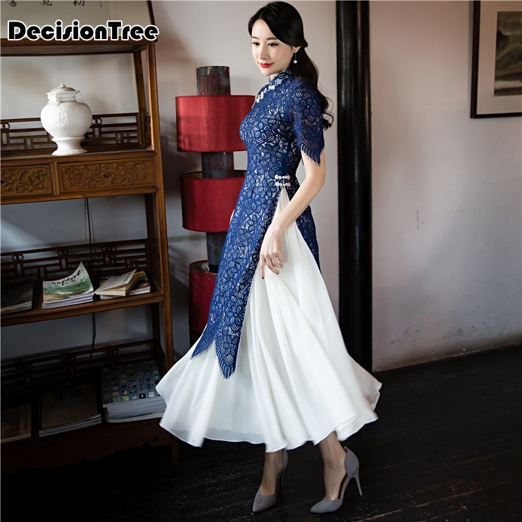 2020 Traditional Clothing Vietnam Aodai Qipao Dress For Women Vietnam Traditional Clothing Ao Dai Chinese Dress Cheongsam