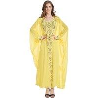 Babalet Elegante Modest Moslemische Islamische Kleidung Voller Länge Chiffon Strass Runway Muslimischen Formale Kleid Indische Hochzeit Kleid