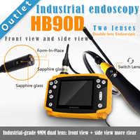 "SmartFly HB90D 9mm 1 Meter 3.5"" LCD Dual LENS Endoscope Borescope Snake Inspection Tube Camera DVR Vehicle Inspection Pipeline"