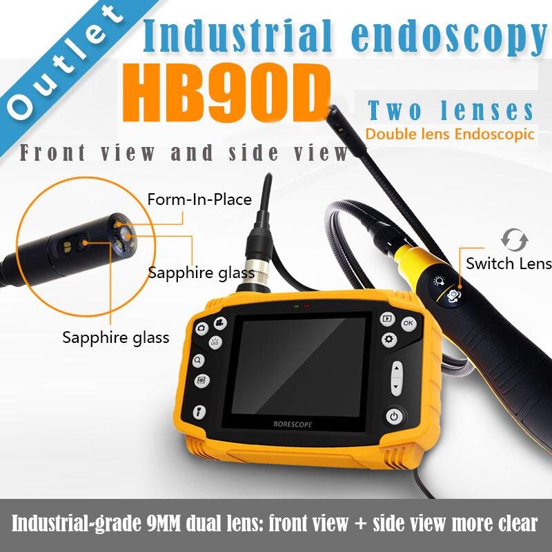 っSmartfly HB90D 9mm 1 metro 3.5 LCD de doble lente endoscopio ...
