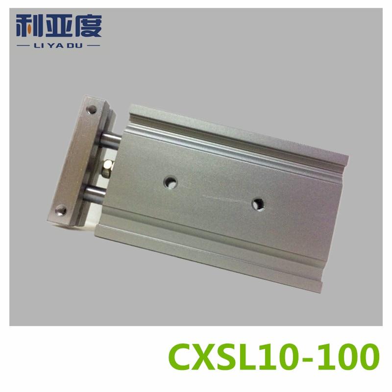 CXSL10-100 Duplex double bar cylinder ball bearings Pneumatic components CXSL10X100 10mm bore 100mm strokeCXSL10-100 Duplex double bar cylinder ball bearings Pneumatic components CXSL10X100 10mm bore 100mm stroke