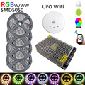 20m LED light Strip SMD 5050 RGBW RGBWW 1200LEDs 60LEDs/M LED Strip Transformer +UFO WiFi controller + 15A Power supply set Kit
