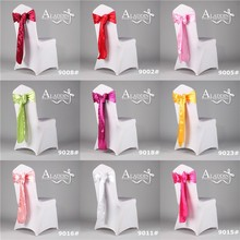 6pcs 275cm Chair Sashes Wedding Organza Cover Party decoration bowknot chair sash satin disposable covers