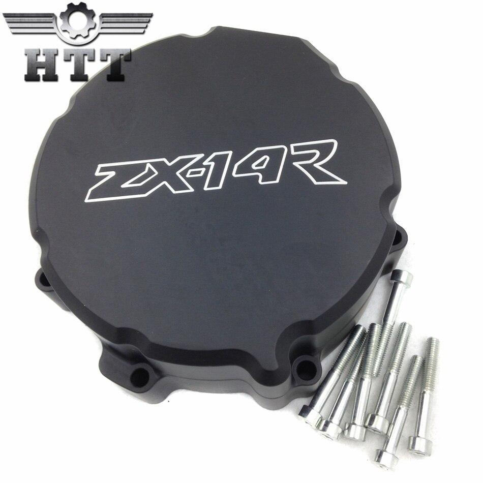 Aftermarket бесплатная доставка мотоцикл части Двигателя Статора крышка для Kawasaki ZX 14R ZX14R ZZR1400 2006-2013 ЧЕРНЫЙ левая сторона