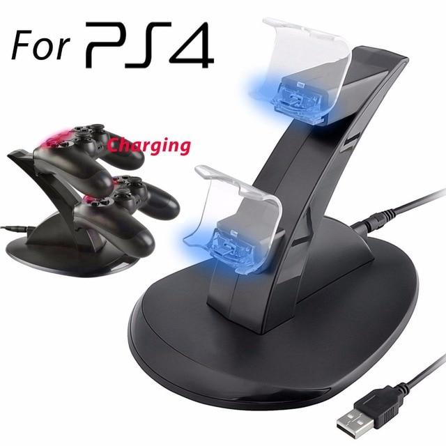 5 шт. Двойная СВЕТОДИОДНАЯ USB Быстрой Зарядки Зарядное Устройство Док Стенд Для Sony PS4 Контроллер